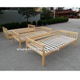 固体マツ木3層の二段ベッド
