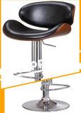 현대 디자인 나무에 의하여 겉을 꾸미는 회전대 바 의자