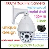 7 pouces 700TVL IR intelligents caméra dôme à vitesse moyenne caméra mobile avec zoom optique 36X 256 préréglages caméra CCTV Feux 10 Arrey