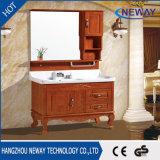Großhandelsfußboden, der festes Holz-Badezimmer-Eitelkeiten steht