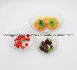 Heißer Verkaufs-Großverkauf-transparente geprägte Glasfilterglocke/Salat-Filterglocke/Frucht-Filterglocke