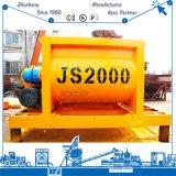 Mezclador concreto concreto concreto de la mezcladora Js2000 de la construcción de una fábrica de mezcla de la correa Hzs120