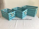 Подгонянная коробка деревянной клети античной отделкой естественная для хранения