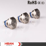 25mm Metal Waterproof Pushbutton Switches Stainless Steel
