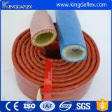 Koker van de Slang van de Glasvezel van het Bewijs van de brand Silicone-Coated Hittebestendige die in China wordt gemaakt