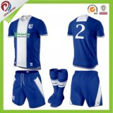 Diseño de encargo de Jersey del balompié de los uniformes del fútbol de la sublimación para los hombres y las mujeres