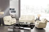 Sofelas de couro reclináveis de cor branca