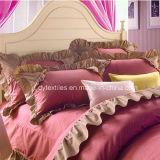 AutumnおよびWinterのための韓国のTwill Princess Bed Cotton Comforter Set