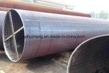 Tubo negro de acero redondo negro soldado LSAW del carbón del horario 40 de Q235B