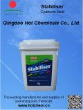 Estabilizador industrial del tratamiento de aguas C3h3n3o3 del grado del polvo del ácido Cyanuric