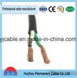 Câble flexible simple en caoutchouc simple en cuivre de couleur blanche