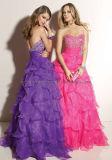 Rouched biselado vestidos de fiesta (Z-072)