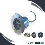 luz da plataforma de 3With9W IP67 24V, iluminação subterrânea, projector de Inground