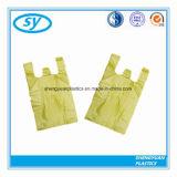 Sac durable en plastique de T-shirt de vente chaude pour des achats