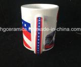 11oz tazza stampata decalcomania, tazza di ceramica del ricordo