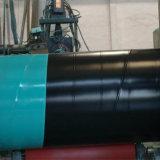 API 3PE soldada en espiral del tubo de acero al carbono para el agua