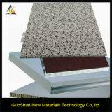 Panneau en aluminium décoratif de nid d'abeilles de marbre et de revêtement de façade de couleur de roche