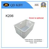 Container accatastabile di plastica K206 per il magazzino di memoria con il coperchio