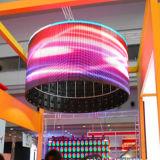 특별한 모양 전시를 위한 연약한 임대료 LED 커튼 스크린