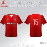 Healong販売のための最も新しいデザインスポーツ・ウェアの熱伝達の印刷の男子フットボールジャージー