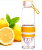 Borosilicato alto 700ml Juicing Garrafa de água portátil Juicer Gift Copo de vidro Creative Cup