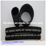 Tubo flessibile di gomma idraulico Braided ad alta pressione del filo di acciaio SAE100