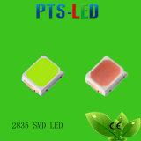 Garantía 5 años 0.5W 2835 SMD LED de color amarillo claro con el CE, RoHS