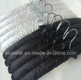 Crochet de suspension en satin avec crochet en métal de cintres en soie coton Hanger