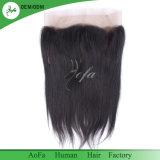 Fermeture brésilienne droite de lacet du cheveu 360 de Vierge de qualité exceptionnelle