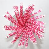 Striped Chevron Pink DOT 100% Eco-Friendly Paper Straw