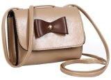 小型のどの革ハンドバッグの弓PU十字ボディショルダー・バッグ