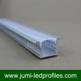 La forme de la largeur U de la norme 12.5mm a enfoncé le profil de DEL pour la lumière de bande de bande de DEL