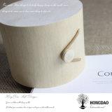 Hongdao caja de madera redonda de encargo de la corteza de árbol para el embalaje del regalo Wholesale_L