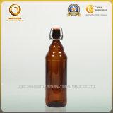 Premières bouteilles à bière 1000ml ambres en verre de chiquenaude (025)