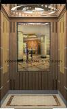 Ascenseur de passager avec miroir demi-hauteur dans le mur arrière