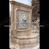 Fontaine de mur antique de travertin pour la décoration Mf-1045 de jardin