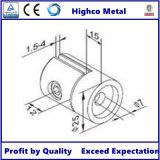 Support de feuille pour la balustrade et la balustrade d'acier inoxydable