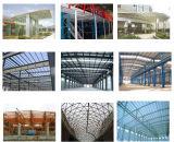 Edificio prefabricado del panel de emparedado de la estructura de acero/almacén de acero (ZY235)