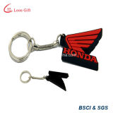 LED Light PVC Key Chain, Promotion Gift를 위한 Rubber Keychain