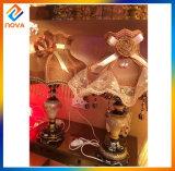 A máscara moderna 110-240V da tela do estilo dirige a lâmpada de tabela decorativa do hotel