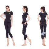 A ioga de nylon da alta qualidade cinzenta do sutiã da ioga arfa mulheres Legging