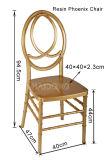 Оптовый коммерчески поликарбонат белое Феникс мебели Wedding стул