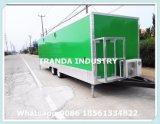 400kgs, de Aanhangwagen van het Voedsel van 2 As/Fastfood Aanhangwagen/de Cabine van de Verkoop/Mobiel