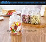De recht-opgeruimde Kruiden van de Keuken van de Opslag van het Voedsel van het Geribbelde Glas Droge, de Kruiken van Kruiden