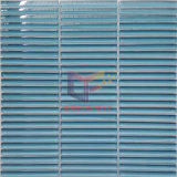 Mattonelle di mosaico di vetro della striscia blu scuro (PT56)