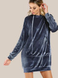 Оптовое новое платье Hoodie фронта карманн плеча падения способа 2017