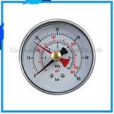 2.5inches鉄の箱の倍の針の圧力計か圧力計