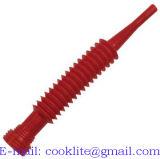 Flexibles rouges de Fléchir-O-Bec du polypropylène (pp) versent le Roi Type d'entonnoir de bec
