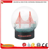 Globo de neve Polyresin personalizado para o turista artesanato, Prédio da cidade de Globo Água Resina Arts