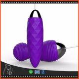 振動の卵の無線リモート・コントロールジャンプはシリコーンの女性のための防水バイブレーターの性の大人の製品に卵を投げつける